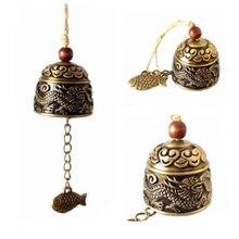 Hanging Ornament Garden Bell Wind-Chimes Good-Luck Dragon Fengshui Handicrafts Bronze