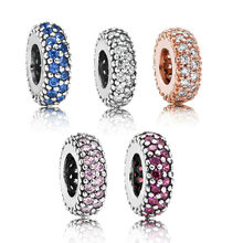 Classic 925 Sterling Silver 5 colors Inspiration Within Spacer Charm Fit pandora Spacer Bracelet Bead Charm DIY Jewelry(China)