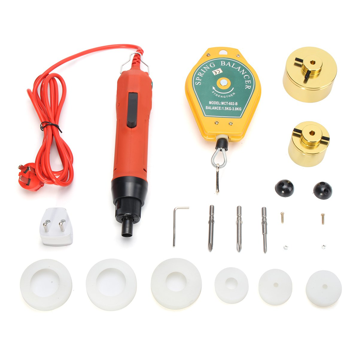 220V Handheld Electric Drill Bottle Capping Machine Tools Set Cap Sealer Seal Ring Machine Food Processor Kitchen Appliances