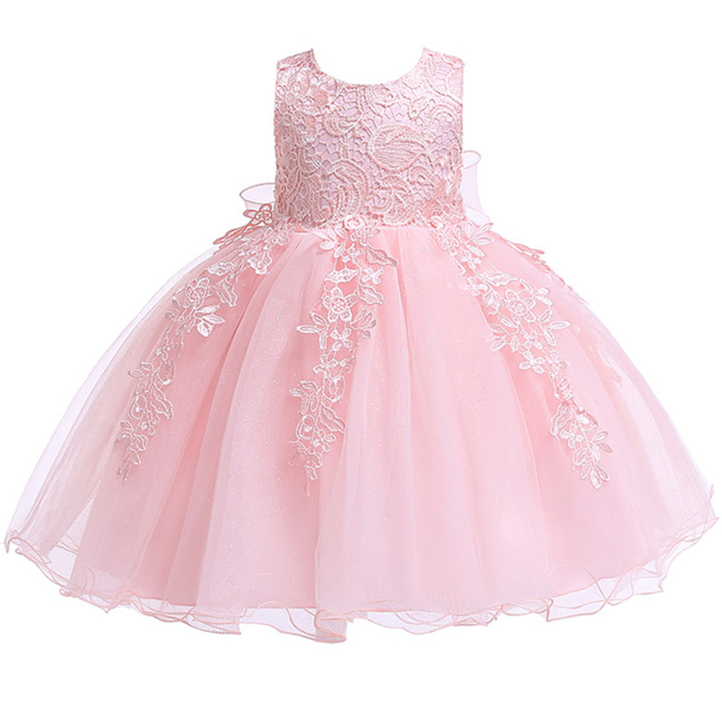 H89bf0a672841437e836de6c971f81439A 2019 Kids Tutu Birthday Princess Party Dress for Girls Infant Lace Children Bridesmaid Elegant Dress for Girl baby Girls Clothes