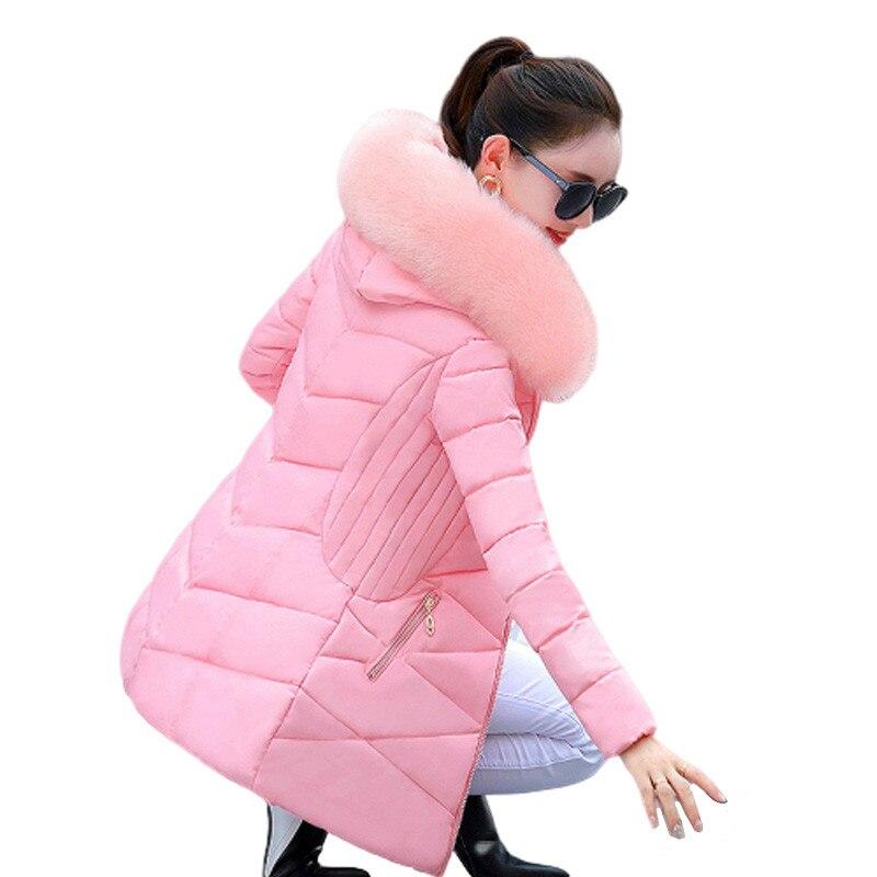 2019 hiver veste femmes grande fourrure à capuche Parka Long manteau coton rembourré femme veste décontracté chaud épaissir vêtements d'extérieur Jaqueta Feminina