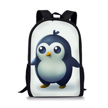 School Backpack for Teenager Girls Boys Penguin Printed Primary Kids Adorable Children Bags Casual Travel 2019 new(China)