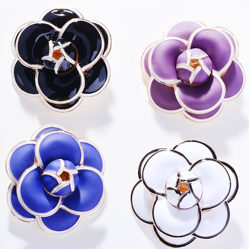 Multicolor Flower Brooch Pin for Women's Enamel Vitage Brooch Jewelry Clothes Scarf Buckle Garment Accessories Fine Jewelry Gift-3