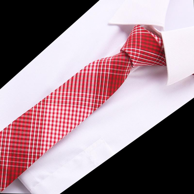 Fashion Design Brand 6.5 Cm Necktie Cotton Ties For Men Wedding Plaid Corbatas Party Slim Gravatas Business Wedding Tie