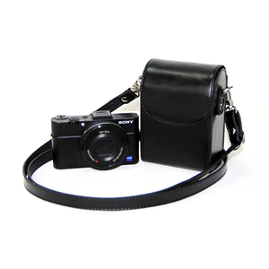 Image 1 - Leather Case Bag for Sony ZV1 RX100II III VI V IV 7 6 5 4 3 RX100M6 RX100M5 RX100M4 RX100M3 RX100M7 Case Cover for Nikon Olympus