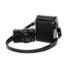 Кожаный чехол для Sony ZV1 RX100II III VI V IV 7 6 5 4 3 RX100M6 RX100M5 RX100M4 RX100M3 RX100M7, чехол для Nikon Olympus