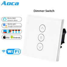Wifi Smart Wall Touch Light Dimmer Switch EU Standard APP Remote Control Works with Amazon Alexa and Google Home