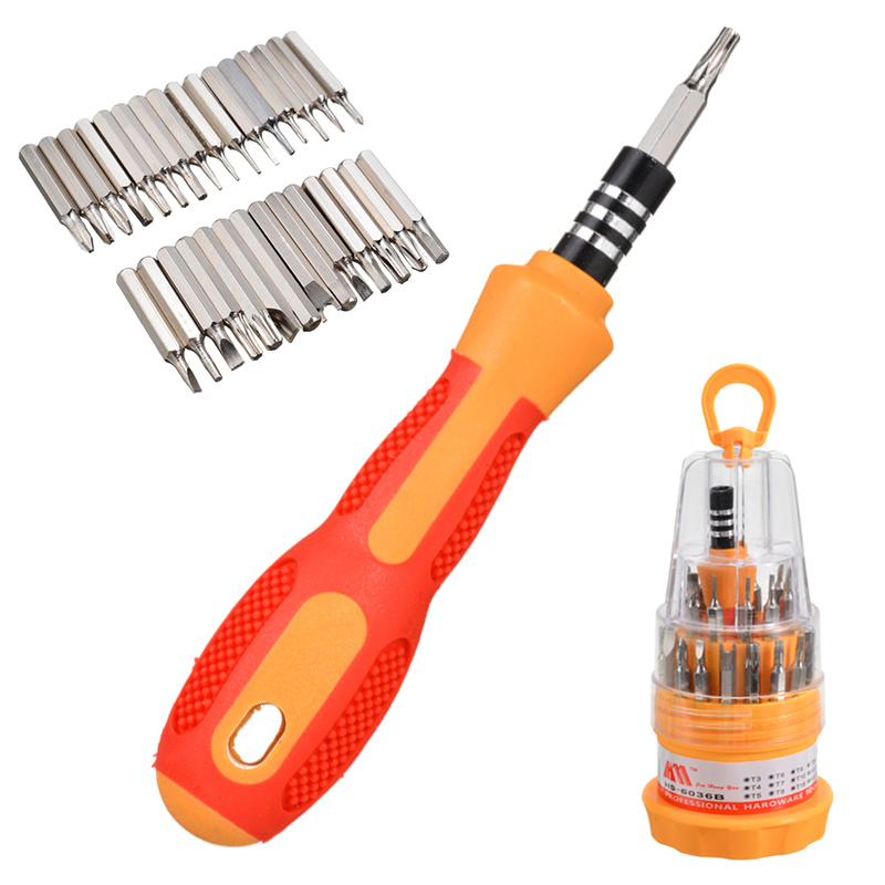Multi 31in1 Magnetic Mini Screwdriver Bits Hand DIY Repair Trox Screw Driver Tool Kit Precision Instrument Repair Tool Supplies