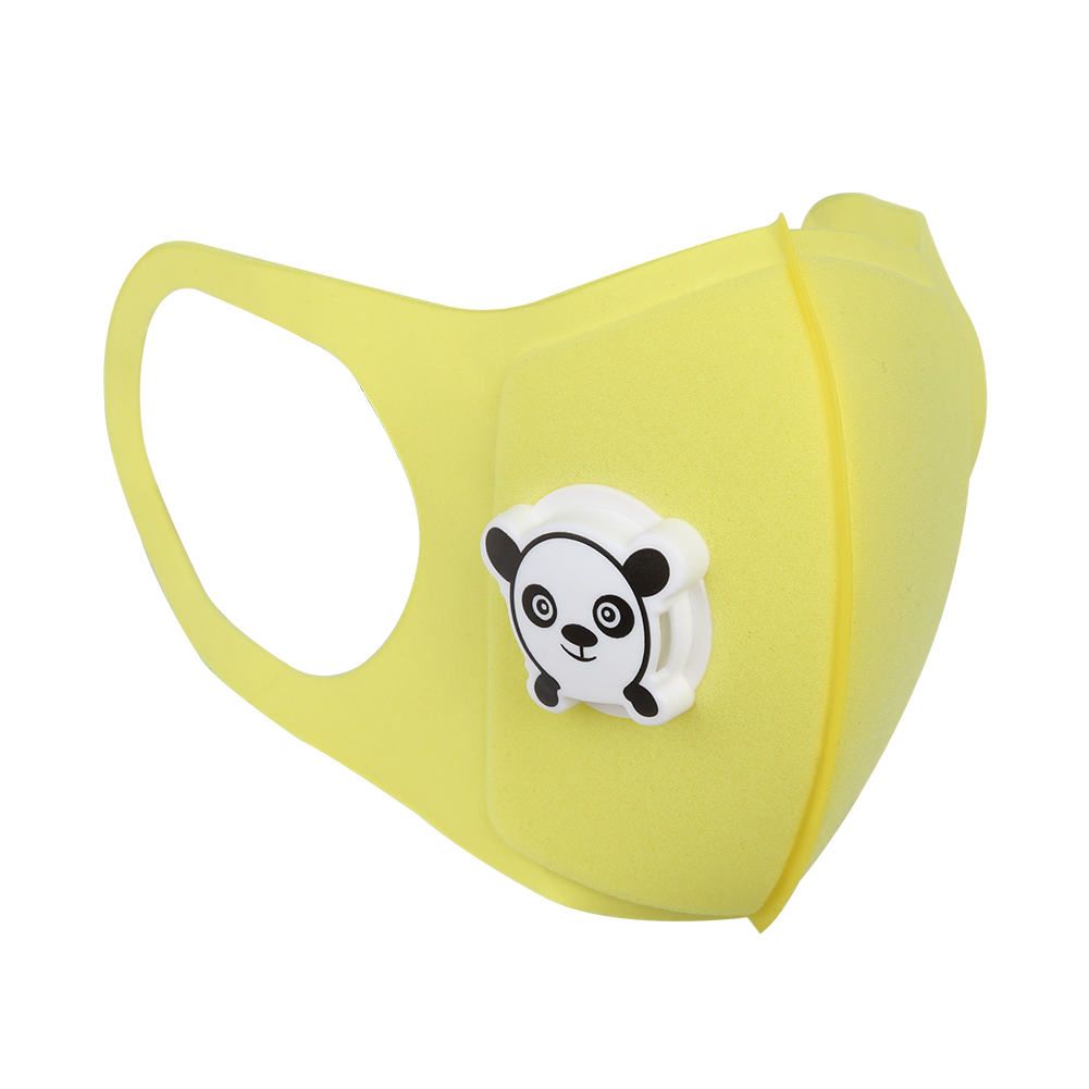 Kids Cartoon Mouth Cover Dustproof Breathable Nose Filter Cover (Yellow)
