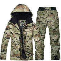 Male Waterproof Thermal Ski Jacket and Snowboard Pant Outdoor Skiing Snowboarding Snow Ski Suit