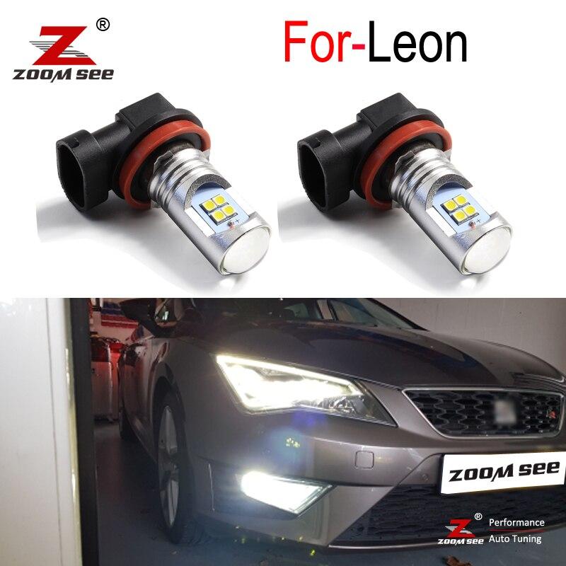 2 шт. хорошее качество Canbus Белый Автомобильный светодиодный противотуманный фонарь передний противотуманный светильник для Seat Leon 2 3 MK2 MK3 1P 5F...