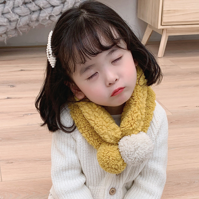 Winter Scarf Mcmo High Grade Children's  Korean Edition Scarf Wool Collar Lovely Boys And Girls Warm Scarf Hat Glove Sets