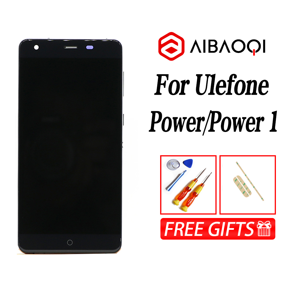 AiBaoQi New Original 5.5 inch Touch Screen + 1920X1080 LCD Display+Frame Assembly Replacement For Ulefone Power model Phone-in Mobile Phone LCD Screens from Cellphones & Telecommunications    2
