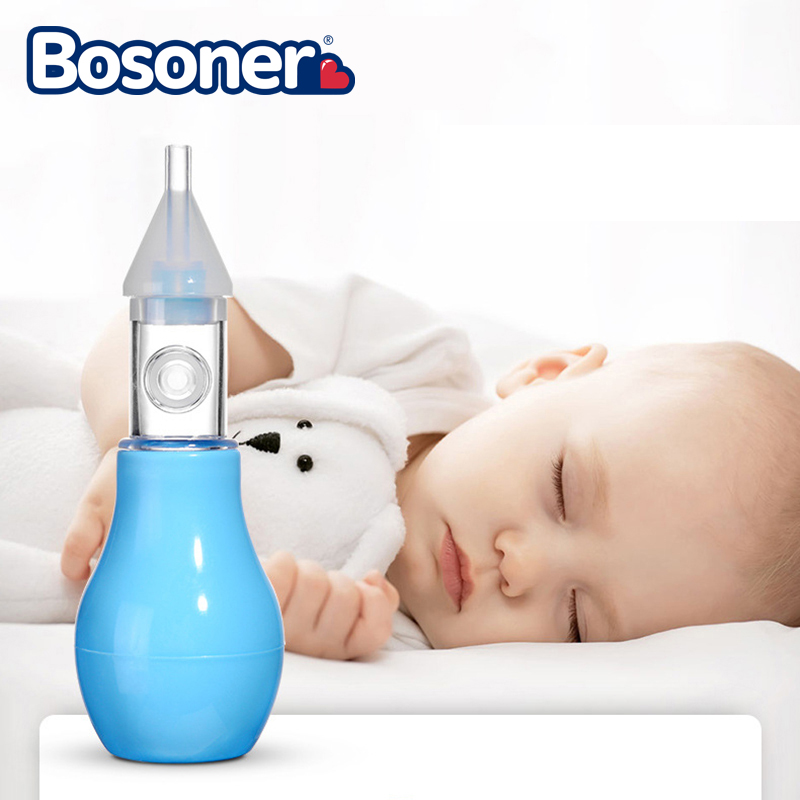 Fashion Silicone Baby Nasal Aspirator Pump-type Newborn Cold Nose Cleaner For Bayby And Kids