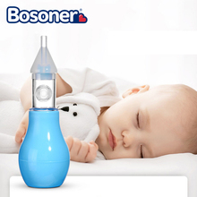 Infant Silicone Nasal Aspirator Pump Neonatal Cold Nasal Mucus Cleaner Anti Back Flow Baby Nasal Aspirator Safe and Non-toxic
