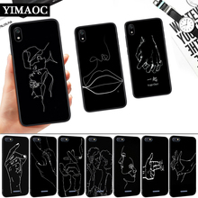 Line art body painting Silicone Soft Case for Redmi 4A 4X 5 Plus 5A 6 Pro 6A 7 7A S2 Go K20 Note Prime 8