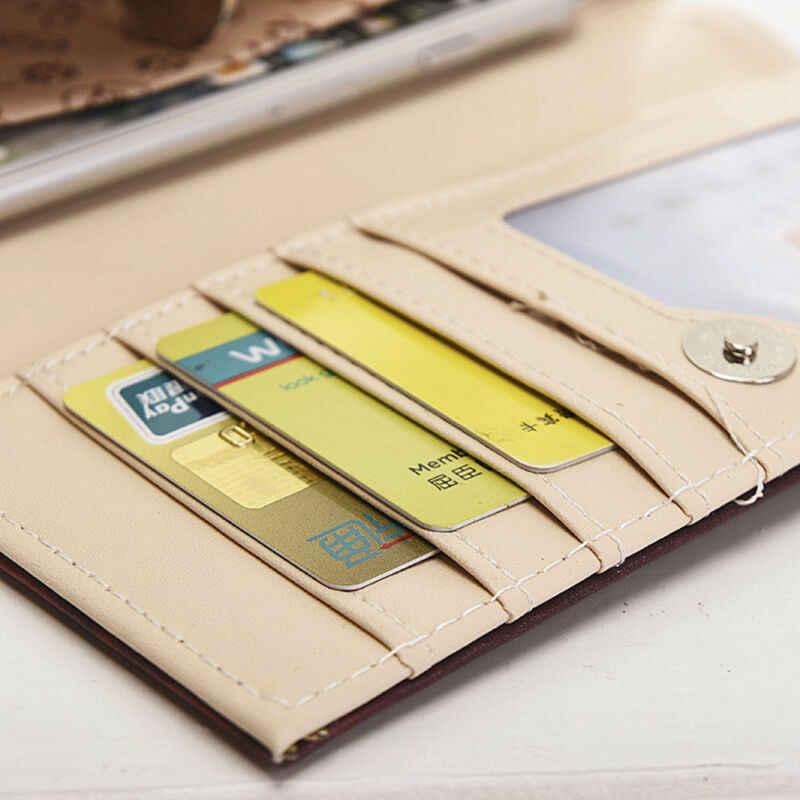 2020 neue Persönlichkeit Kreative Frauen Geldbörse Kupplung Leder Pu Elefanten Lange Karte Halter Handtasche Doodle Brieftasche