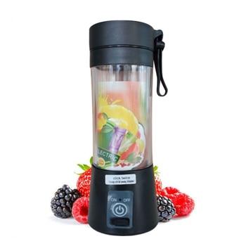 Portable Mixer USB Electric Fruit Juicer Handheld Smoothie Maker Blender Stirring Rechargeable Mini Food Processor Juice Cup 8