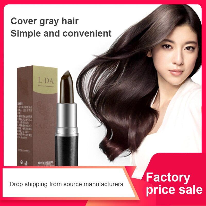 Краска для волос Tinte para el cabello de una sola vez cobertura de raiz gris instantero crema motora del Color del cabello TSLM1