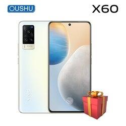 Новые оригинальные vivo X60 5G смартфон 6,56» 'AMOLED 120 Гц Экран 33 Вт Flash Зарядное устройство Процессор Exynos 1080 NFC 4300 мА батарея мобильного телефона