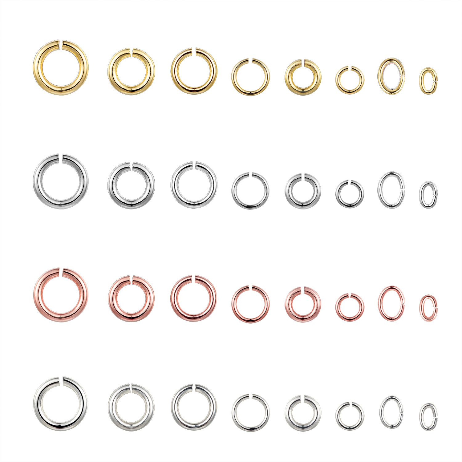 3/4/6/8mm Cheap Beads Jewelry Findings Hot Open Jump Split Rings Connector for DIY Making Gold Plated