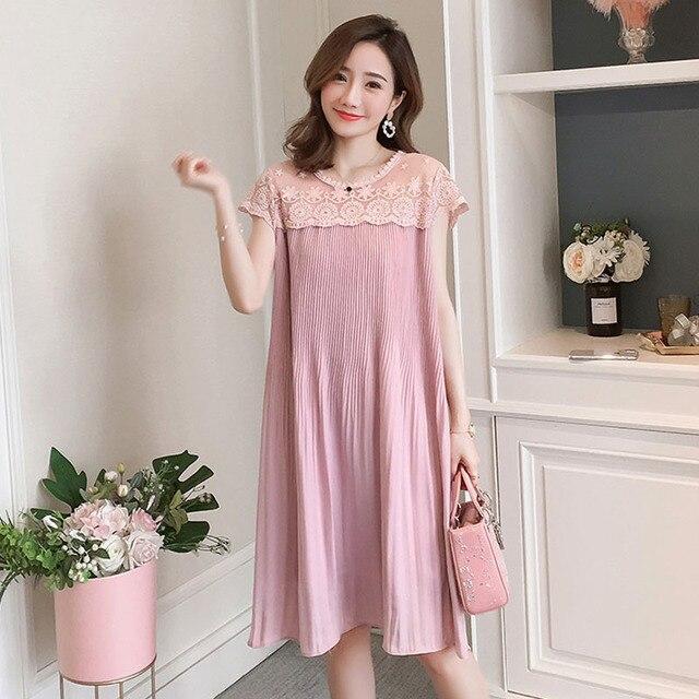 Sleeveless Lace Maternity Dress 5