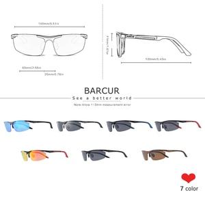 Image 3 - BARCUR Aluminum Magnesium Sports Polarized Sunglasses Men Mirror Sun Glasses Male oculos