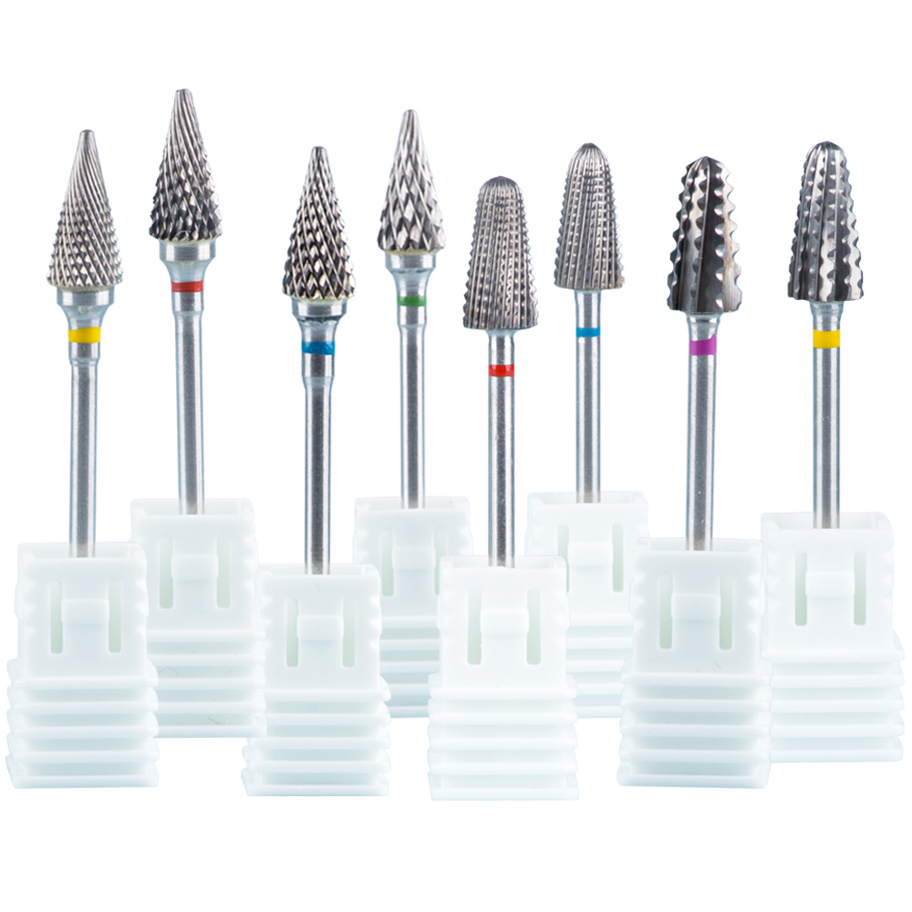 Milling Cutter For Manicure Tungsten Carbide Nail Drill Bits Cutters For Removing Gel Varnish Nail Art Accessories Machine Tools