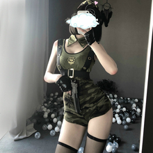 Cool Girl Army Soldier Costume Roleplay Policewoman Sexy Lingerie Dress Halloween Party Military Instructors Cosplay Uniform