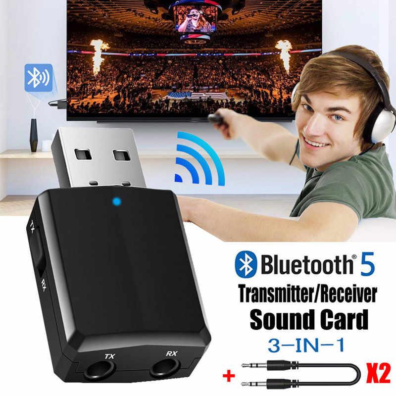 Vikefon Bluetooth Ontvanger Zender Mini Stereo Bluetooth 5.0 Audio Aux Rca Usb 3.5 Mm Jack Voor Tv Pc Auto Kit draadloze Adapter