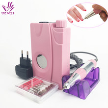 Nieuwe 110-240V Draagbare Elektrische Nail Boor Machine Acryl Nail File Boor Manicure Pedicure Kit Set Oplaadbare voor nail Gereedschap(China)
