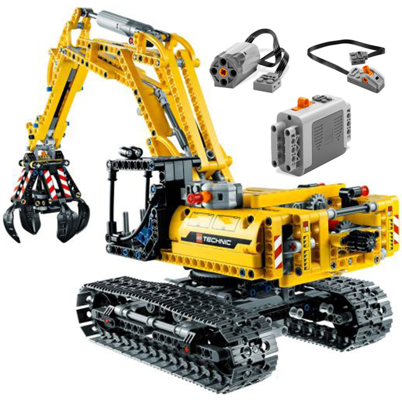 Excavator Car Compatible With <font><b>Legoinglys</b></font> Technic <font><b>42006</b></font> Truck Model Building Blocks Boys Birthday Gifts Toys For Children image