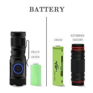 Image 3 - 8000 Люмен самый мощный светодиодный фонарик мини usb 4 * XPG светодиодный тактический водонепроницаемый перезаряжаемый 18350/18650 аккумулятор
