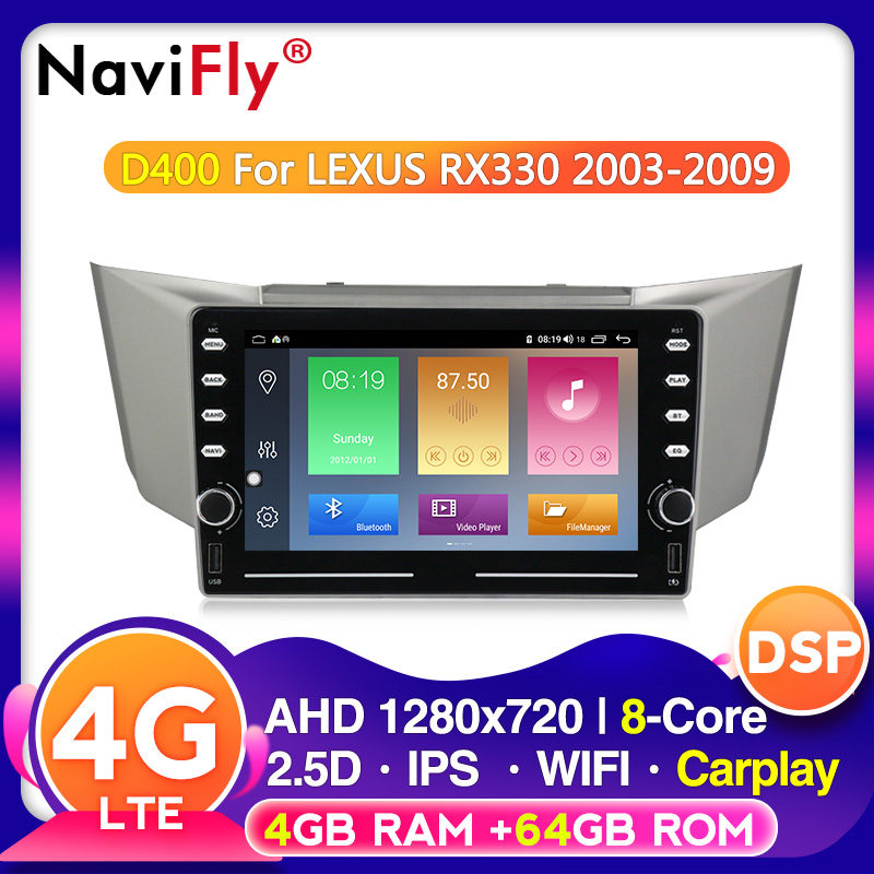 Voice control Android Car Multimedia radio For Lexus RX300 RX330 RX350 RX400H Toyota harrier 2003 2009 IPS DSP 4G LTE Octa core|Car Multimedia Player| - AliExpress