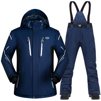 Ski Suit Men Winter 2020 Waterproof Windproof Thicken Warm Snow Clothes Sets Jacket Skiing And Snowboarding Suits Brands
