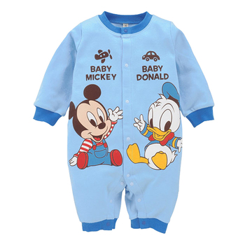 Disney Newborn Baby Rompers Baby Girls Clothes Mickey Minnie Boy Clothing Roupa Bebe Winter Long Sleeve Cartoon Infant Jumpsuits