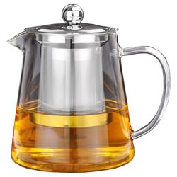 Best 5Sizes Good Clear Borosilicate Glass Teapot With 304 Stainless Steel Infuser Strainer Heat Coffee Tea Pot Tool Kettle Set