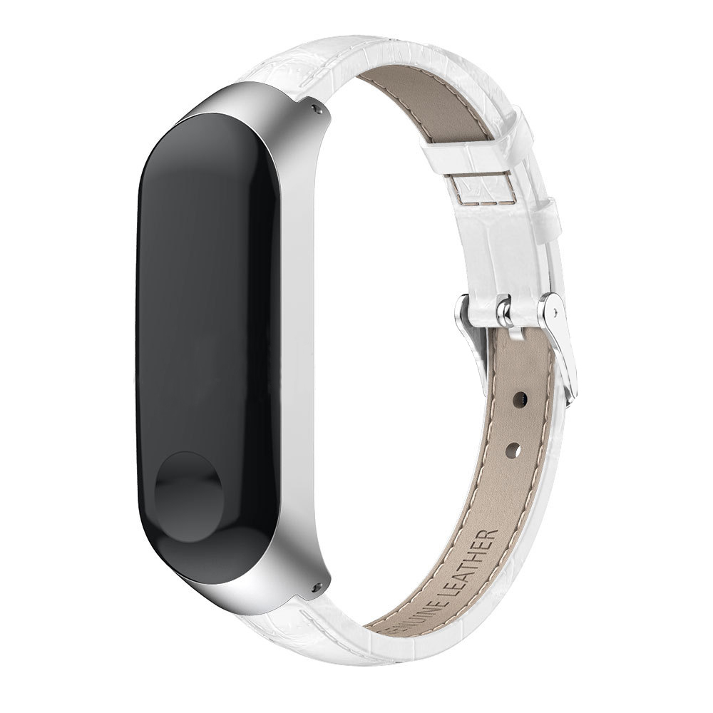 For Xiaomi Mi Band 4 3 Colorful Leather M Band 4 3 Metal Strap PU Stainless Bracelet For MiBand 4 3 Wristbands Replacement Strap