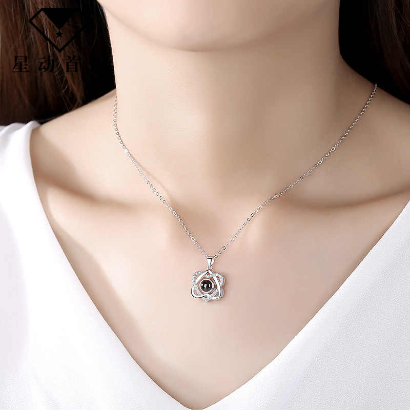 1Pcs XL Rose Gold สร้อยคอเกล็ดหิมะ PARTY Favor ของขวัญเพื่อนเจ้าสาวสำหรับแฟนวันวาเลนไทน์ของขวัญงานแต่งงานของที่ระลึก