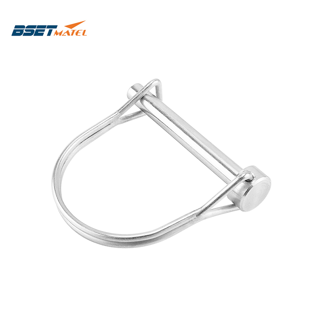 Stainless Steel 316 PTO Pin Round Arch Wire Shaft Locking Lock Pin Safety Coupler Pin Retainer Farm Trailers Wagons Lawn Garden