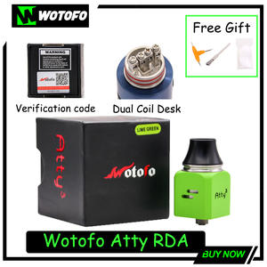 Wotofo Center-Post Cubed Vape Atomizer RDA ATTY Clearance 2mm Thread Post-Holes 304-Stainless-Steel