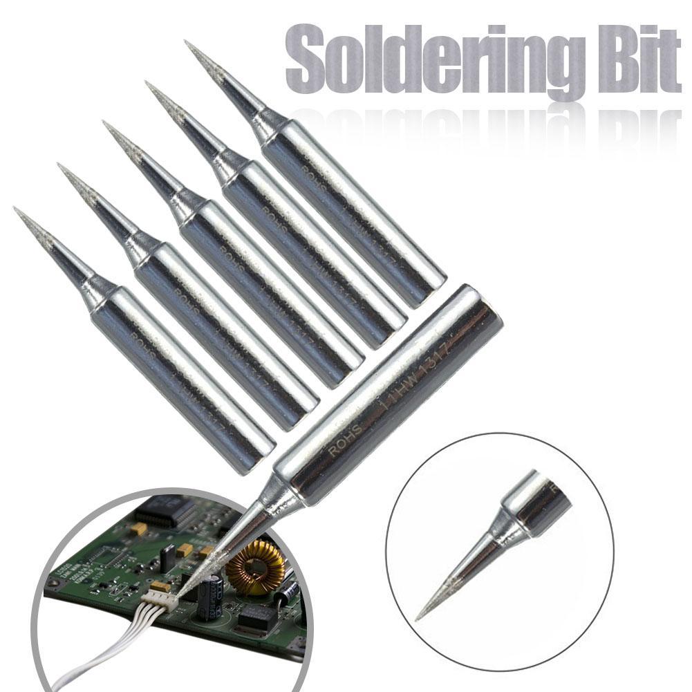 5PCS/Set 900m-T-I Welding Tool Lead-Free Solder Iron Head Tips Replacement Soldering Bit Welding Tool For DIY Rework
