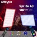 Weeylite sprite40 цветная (RGB) приложение Управление светодиодный светильник полный Цвет фотографии светильник ing лампа для игры YouTube видео в режиме ...
