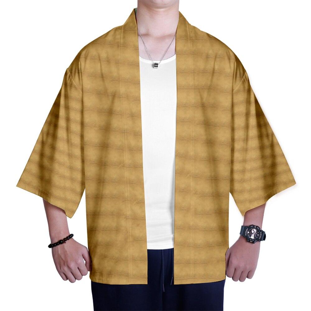 Harajuku Style 3D Animal Kimono Comfort Cardigan Casual Cropped Sleeve Japanese Outerwear Summer Autumn Yellow Kimono