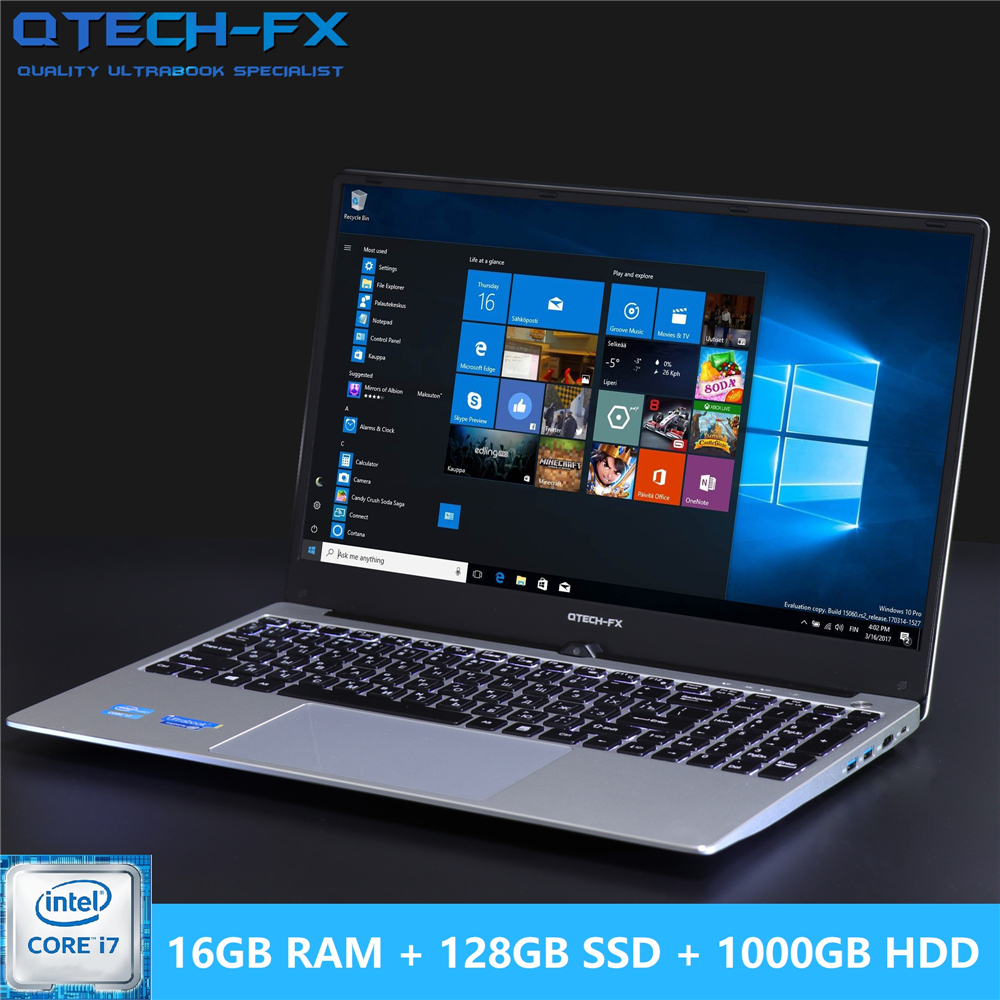"16G RAM 1TB / 500/1000GB HDD 128G SSD 15.6"" Gaming Laptop I7 Notebook PC Metal Business AZERTY Italian Spanish Russian Keyboard"
