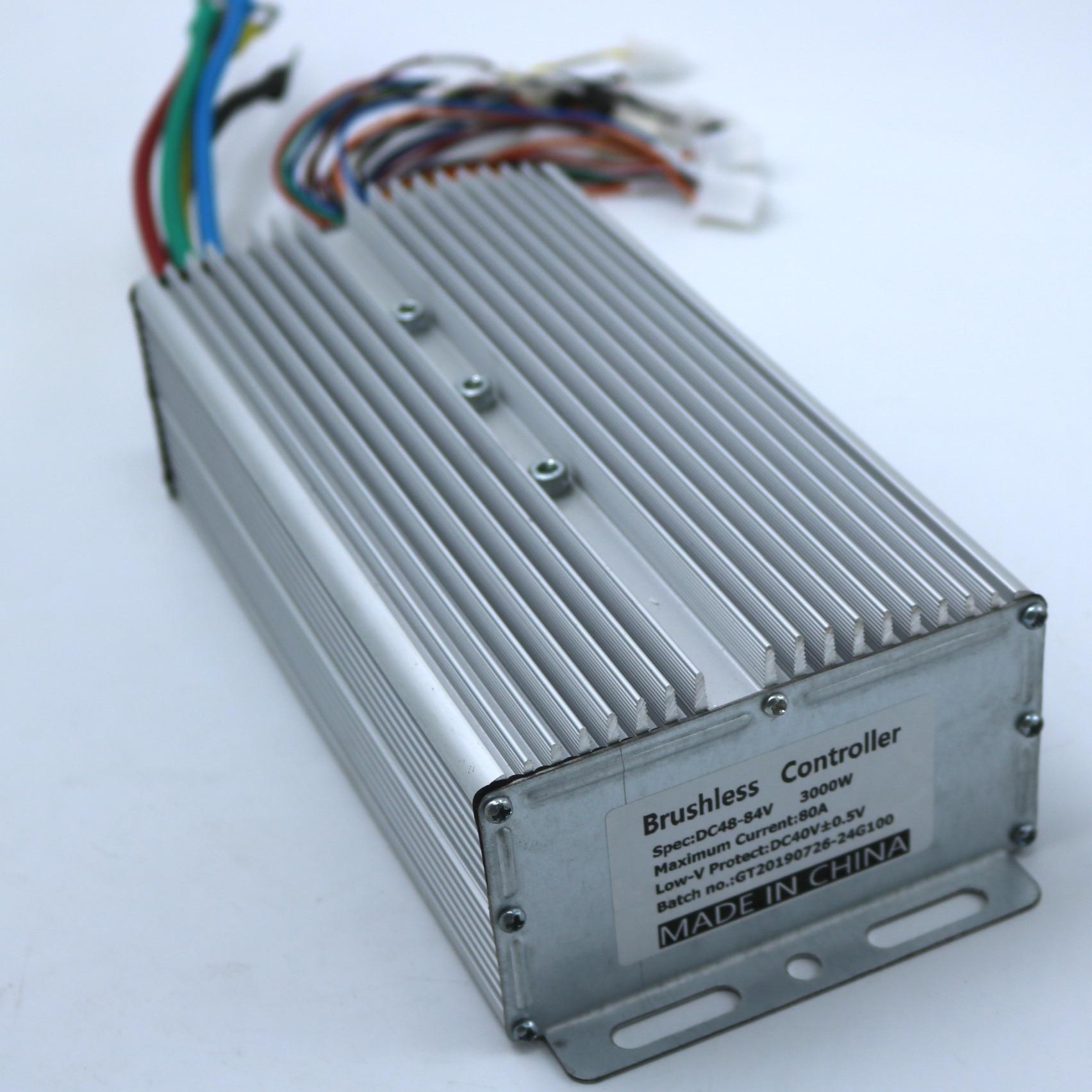 24FET 3000W 48 84V 80Amax BLDC motor controller EV brushless speed controller sensor sensorless