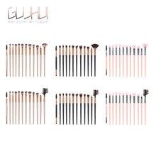 12 adet/takım profesyonel makyaj fırçası naylon Fiber göz farı fırçası Fan şeklinde fırçası kozmetik aracı