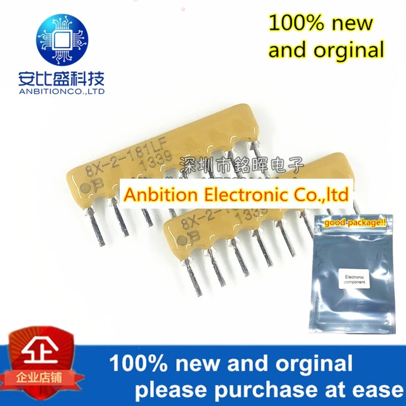 10pcs 100% New And Orginal 4608X-102-181LF 8X-2-181LF 8pin 180R 2%Resistor Network And Array Direct Insertion In Stock