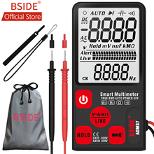 купить BSIDE ADMS7 Voltage Tester 3.5'' Large LCD Digital Smart Multimeter 3-Line Display TRMS 6000 Counts DMM with Analog Bargraph по цене 1050.03 рублей