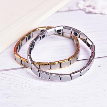 Bransoletka męska energia Germanium magnetyczny turmalinowy bransoletka opieka zdrowotna biżuteria dla kobiet bransoletki bransoletki biżuteria tanie i dobre opinie YITING Hologram bransoletki Mężczyźni Moda Klasyczny Steel Energy bracelet Ustawienie kanału